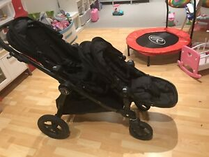 City select 2015 -Black on Black -Double or Single Stroller