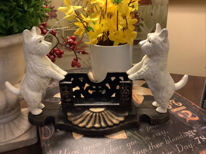 "Cast Iron~West Highland Terrier~Business Card Holder~11""W X 5.75""H~FREE SHIPPING"