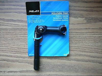 Xlc Adjustable Quill Stem 1  Steer 25 4Mm Handlebar 120Mm 0  60  Black Bicycle