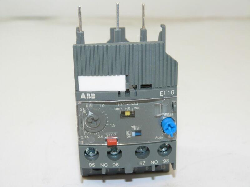 ABB EF19-2.7 Electronic Overload Relay 0.8-2.7A NEW 1yr Warranty