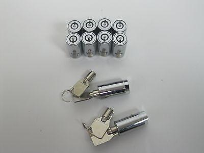 10 Ace Style Cylinder Locks With 4 Keys Soda Snack Vending T Handle Keyed Alike