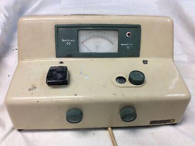 Bausch Lomb Spectronic 20 Single Beam Vis Spectrophotometer 1116206mn