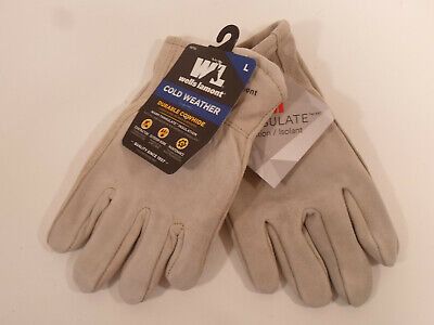 Wells Lamont Mens Cold Weather Heavy Duty Durable Cowhide Leather Gloves Large