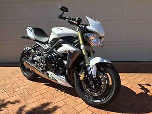 Triumph Street Triple 2013 (MY12) Crystal White Currambine Joondalup Area Preview