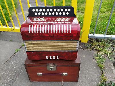old, nice 2 row  diatonic button accordion B-C