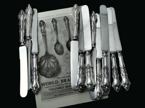 """❤️ MOSELLE AMERICAN SILVER CO. LUNCH DESSERT KNIFE 9""""-PRICE PER pC"""