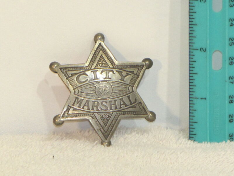 OLD WEST REPLICA BADGE CITY MARSHAL