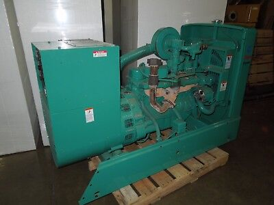 Cummins Onan 35kw 43.8kva 208y120v - 480y277v 3ph Standy Natural Gas Generator