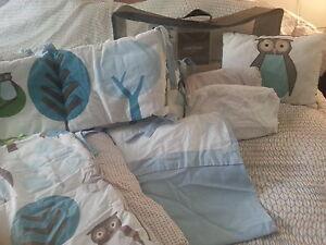 Dwell Studio, Owl Crib Bedding Set