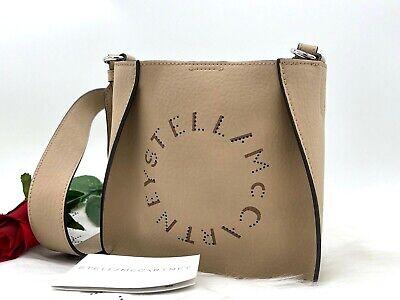AUTH NWT $650 Stella McCartney Mini Perforated Logo Faux Leather Crossbody Bag