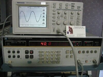20 Mhz 40 V P-pk Frequency Synthesizer Function Generator Sweep Hp3325a Opt 2
