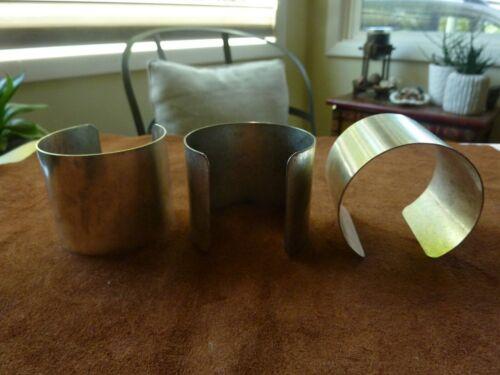 SILVER BASE METAL CUFF BRACELET BLANKS---2 IN. WIDTH      LOT OF 3        NWOT