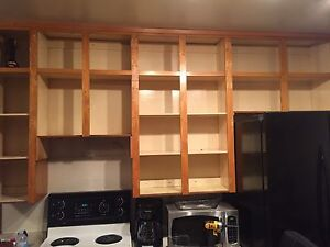 Set of Solid Wood Cupboards Available! Doors + Handles Included
