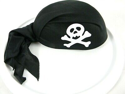 Skull Pirate Costume (PIRATE HAT SKULL CAP COSTUME ACCESSORY HALLOWEEN ONE SIZE FITS ALL)