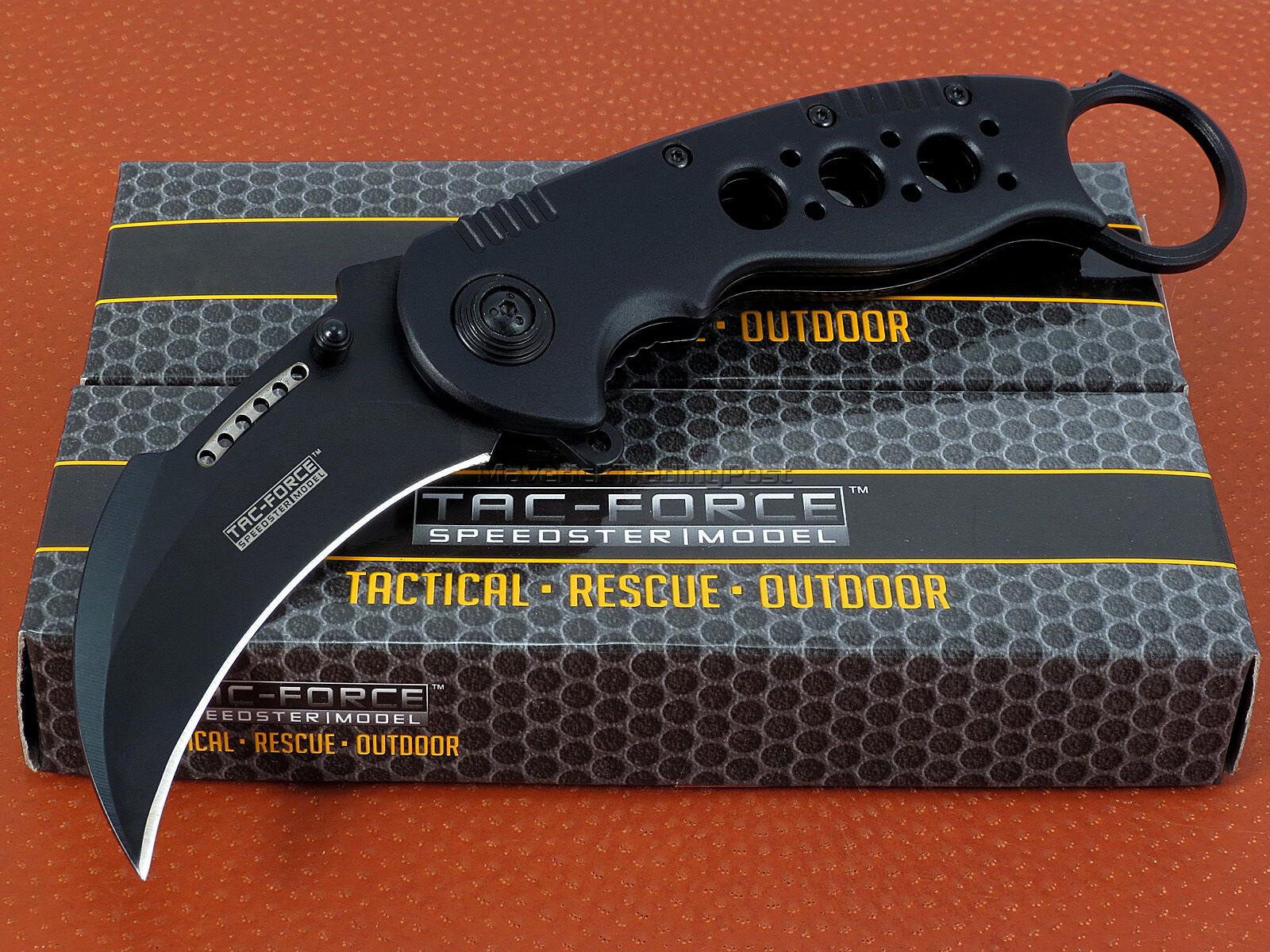 Tac Force Tactical Karambit Spring Assisted Opening Folding Pocket Knife 534BK