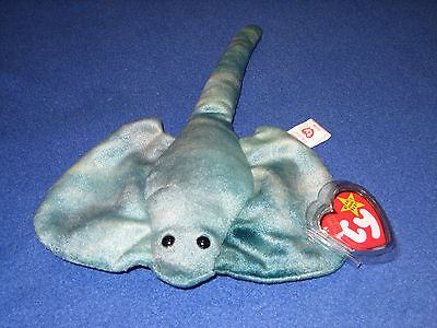 TY STING the STINGRAY BEANIE BABY - MINT with TAGS - PLEASE READ
