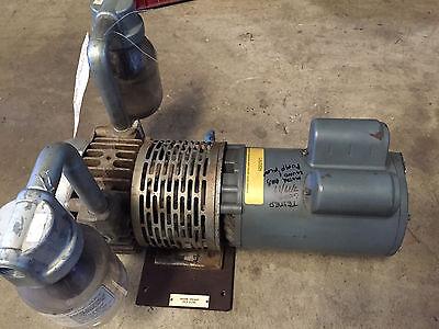 Gast Vane Vacuum Pump Electric 1 Hp Blower 34 Id218