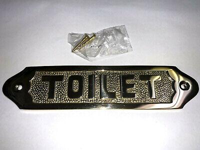 Toilet Door Sign Or Plaque Solid Brass Wall Hanging Bathroom Restroom Sign New Hanging Door Signs