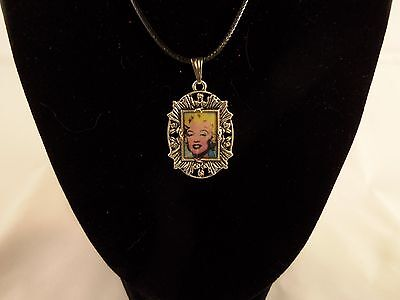 New DIY Necklace art print necklace Andy Warhol - Marilyn #3