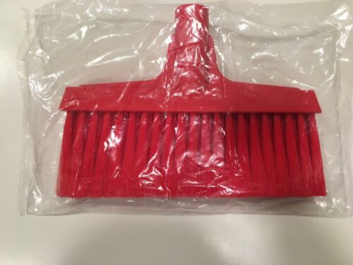 "10"" UPRIGHT LOBBY BROOM by VIKAN, Soft Bristles FDA Compliant - RED"