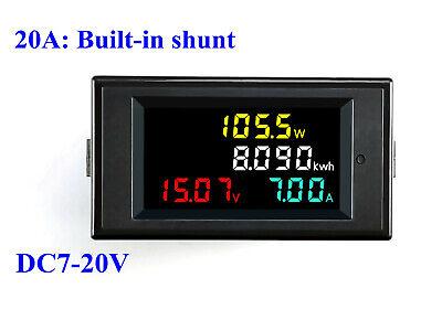 Dc 7-20v 20-50-100a Lcd Digital Voltmeter Ammeter Volt Amp Power Kwh Panel Meter