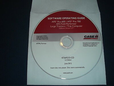 Case Afs Pro 600 700 Afs Field Tractor Performer Software Operating Guide Manual