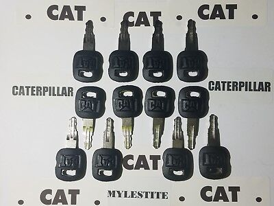 12 Old Style Cat Keys Caterpillar Heavy Equipment Ignition Key Fast Shipping