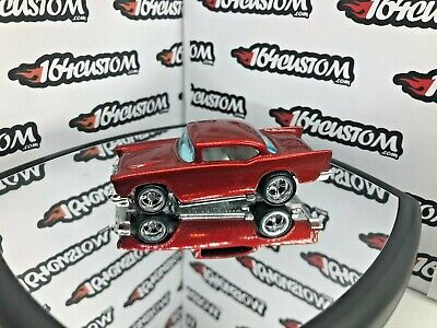 Hot Wheels '57 Chevy - SUPER CUSTOM Spectraflame Red with 5-spoke Real Riders