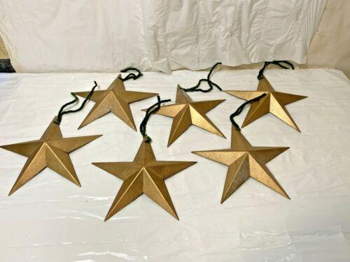 "Gold Rustic Dimensional Barn Star 8"" Country Farmhouse Decoration Xmas Ornament"
