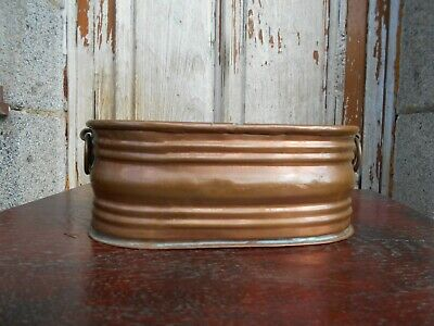 Vintage  2 handled copper window box /planter/jardiniere
