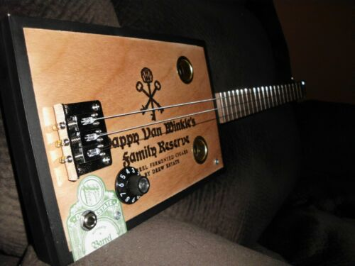 3 STRING ELECTRIC/ACOUSTIC CIGAR BOX GUITAR