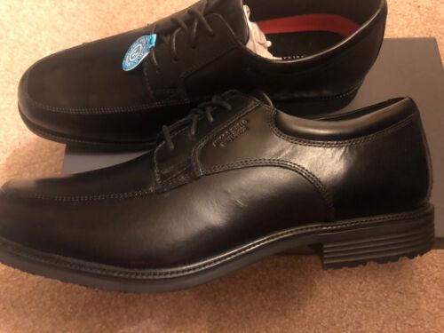 New Mens Black Rockport Esntial DTL Waterproof Dress Shoes S