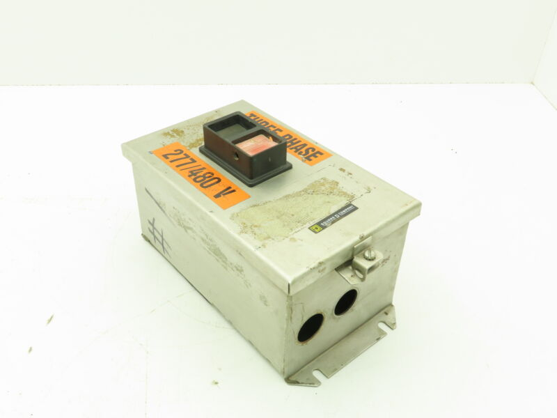 Square D 2510 MCW13 Manual Motor Starter Stainless Enclosure Sz M-1 Ser A 10Hp