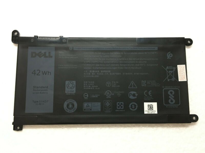 NEW OEM DELL Battery Chromebook 11 3180 3189 Laptop 11.4V 42Wh Y07HK 51KD7