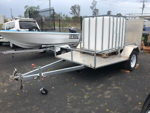 MOTOR BIKE/MOWER/ GOLF BUGGY CHECKER PLATE TRAILER LIKE NEW Hatton Vale Lockyer Valley Preview