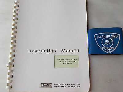 Fluke 873a 873ab Acdc Differential Voltmeter Instruction Manual