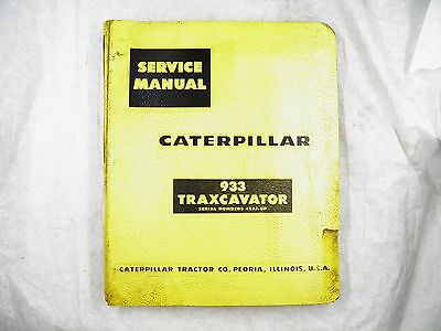 Cat Caterpillar 933 Traxcavator 42a1-up Service Manual
