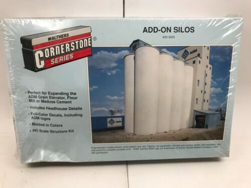 Walther Cornerstone Series Add-On Silos 933-3023 HO Scale Kit - New