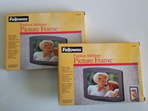 Lot of 2 TWO Fellowes Partition Additions PICTURE FRAME - FEL 75278