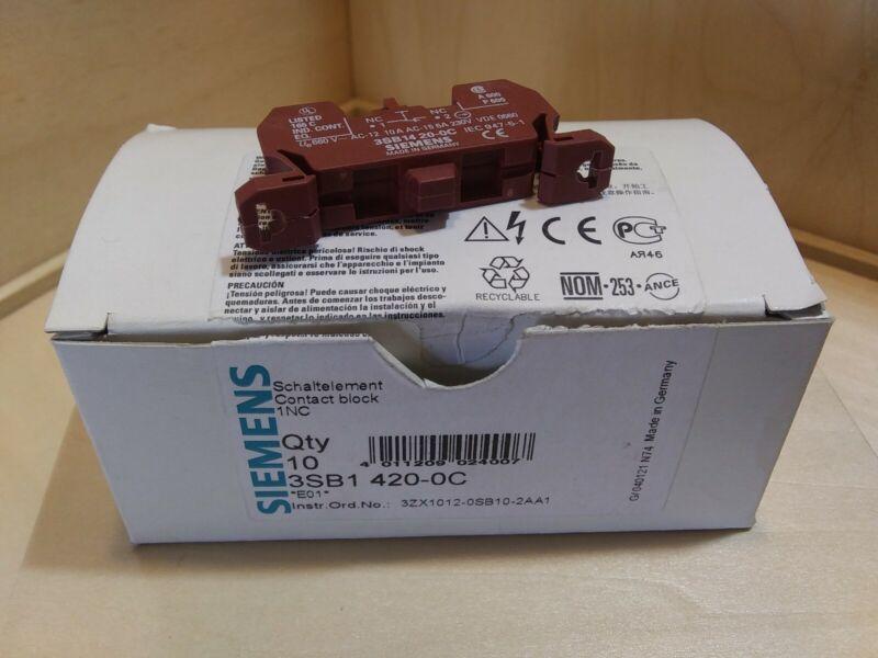 Siemens 3SB1 420-0C Contact Block (Lot of 11)