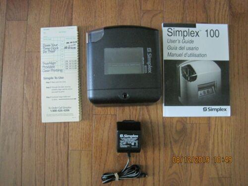 SIMPLEX100 time recorder Model 1603-9109