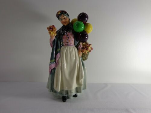 "Vintage Royal Doulton 9""BIDDY PENNYFARTHING Balloon Lady HN-1843 England MINT!"