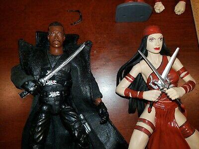 Blade Elektra figure lot Marvel Legends Select Wesley Snipes