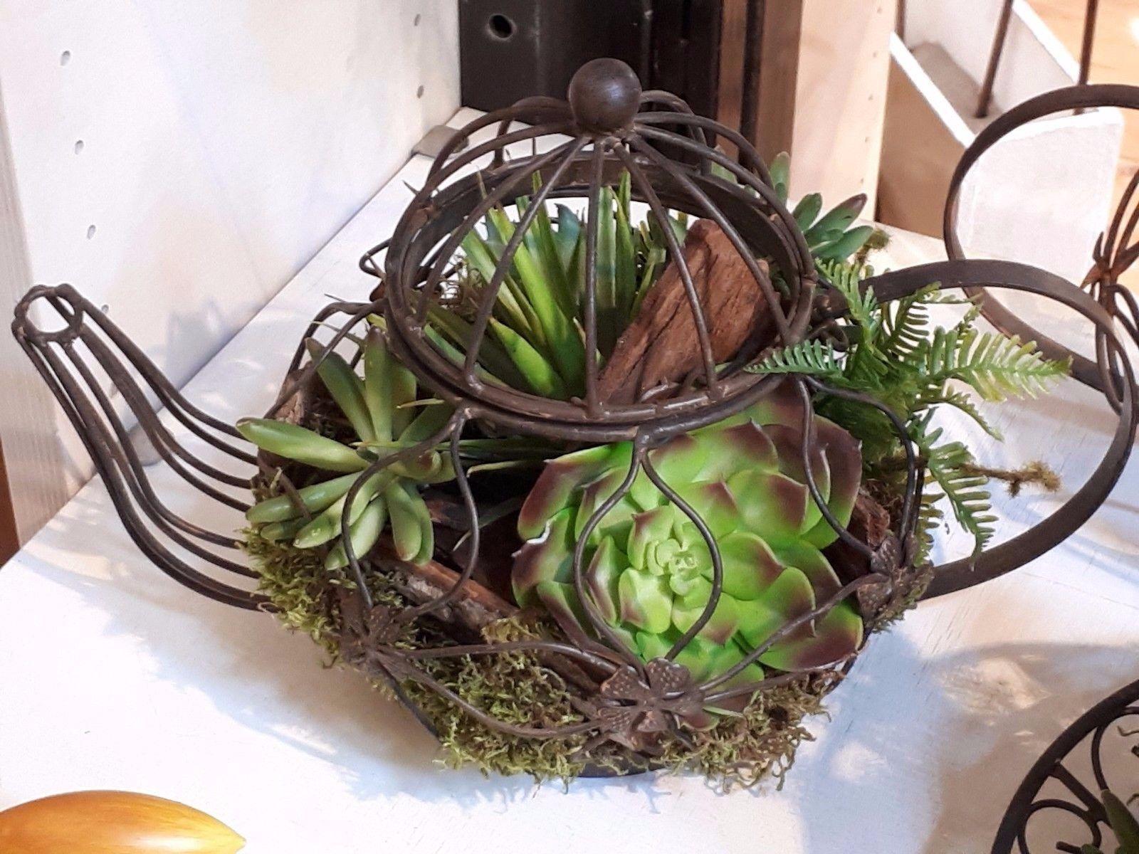 Pflanztopf  Kanne Teekanne 18985 Dekoration Schale Garten Terrasse Tischdeko