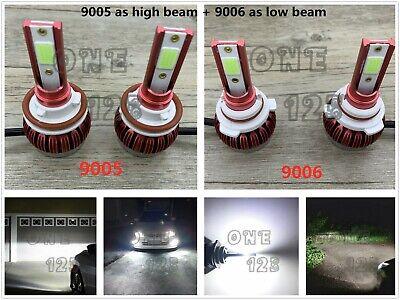 NEW 9005+9006 Kit High Low Beam 6000k white Combo LED Headlight Bulbs 6000LM 45W