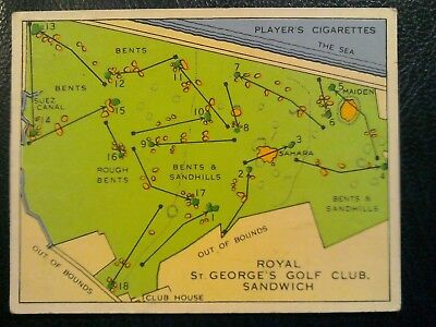 PLAYER'S  1936. CHAMPIONSHIP  GOLF  COURSES  1 ODD CARD NUMBER 4.