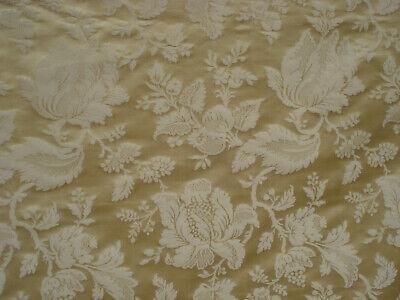 "3 M bébé rose//or Brillant Floral Swirl Print Metallic Brocade Fabric 45/"" Wide"