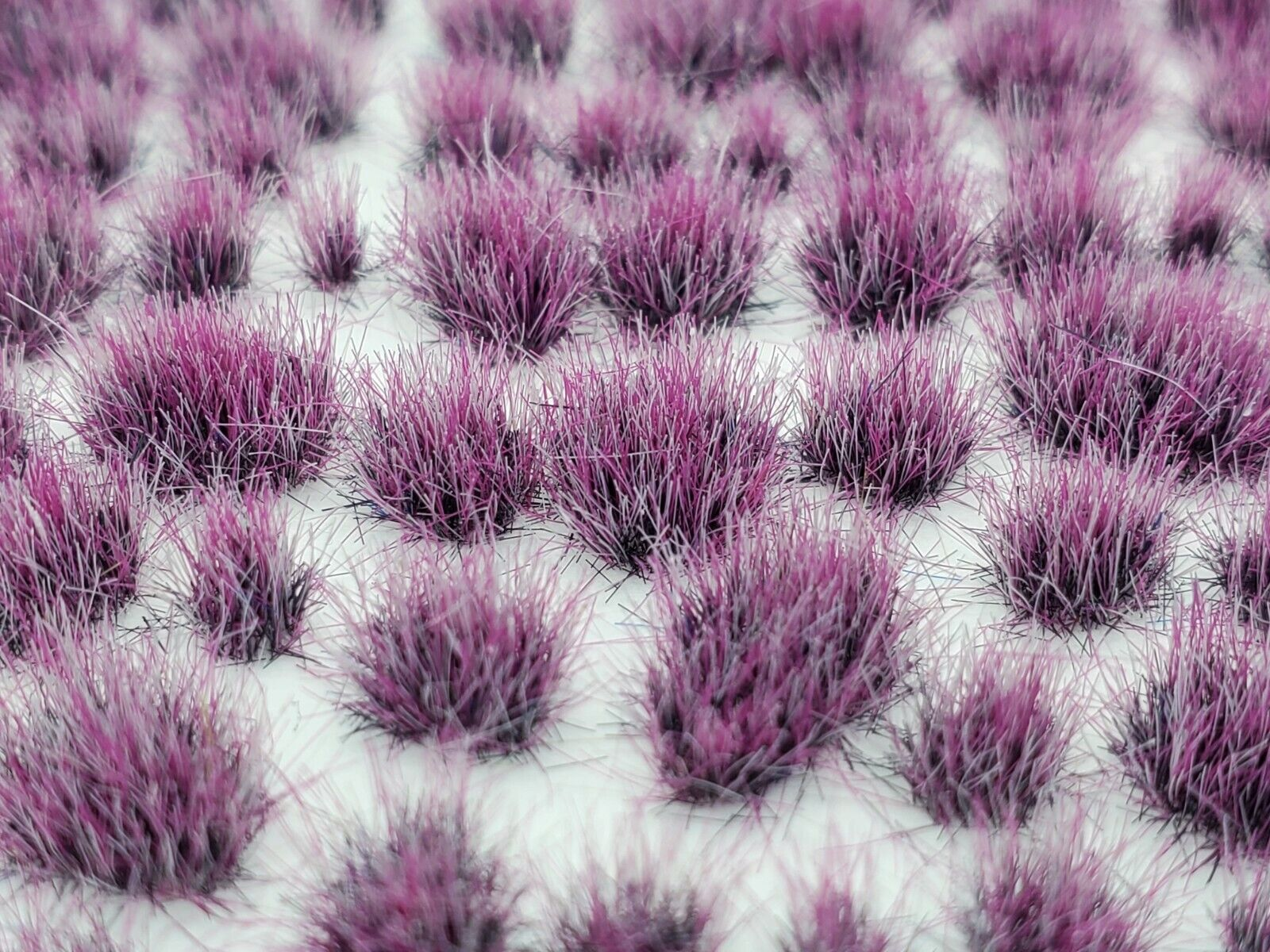 Self Adhesive Static Grass Tufts for Wargaming Terrain/Bases -Plum Purple- 4mm