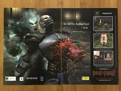 Blood Omen 2 PS2 Xbox 2001 Vintage Print Ad/Poster Official Art Soul Reaver Rare