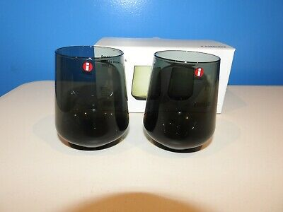 Iittala Kartio Set of 2, 35cl Tumblers Dark Grey Juomalasi